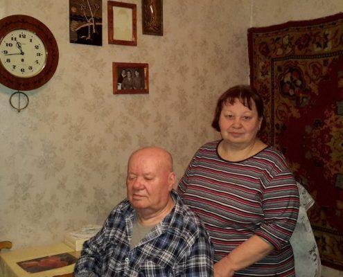 Федір Данилович Бурденко з донькою Світланою, січень 2015 р.